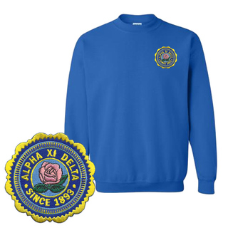 Alpha Xi Delta Patch Seal Sweatshirt