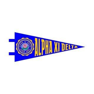 "Alpha Xi Delta Pennant Decal 4"" Wide"