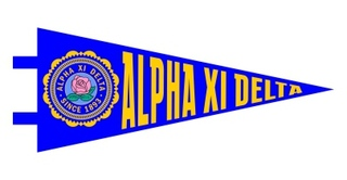 Alpha Xi Delta Pennant Decal Sticker