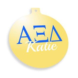 Alpha Xi Delta Personalized Christmas Ornaments