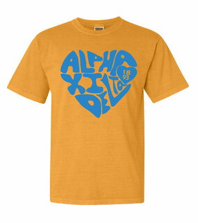 Alpha Xi Delta Piece of My Heart Sorority Comfort Colors T-Shirt