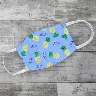 Alpha Xi Delta Pineapples Face Mask
