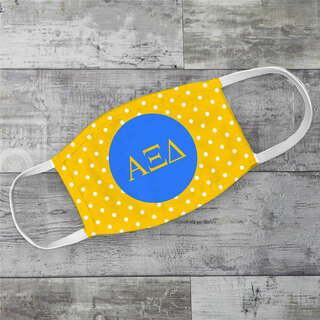 Alpha Xi Delta Polka Dots Face Mask