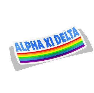 Alpha Xi Delta Prism Decal Sticker