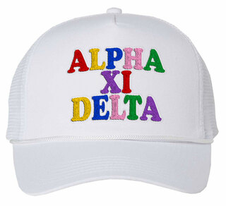 Alpha Xi Delta Rainbow Trucker Hat