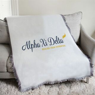 Alpha Xi Delta Realize Your Potential Afghan Blanket Throw