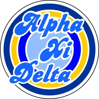 Alpha Xi Delta Retro Round Decals