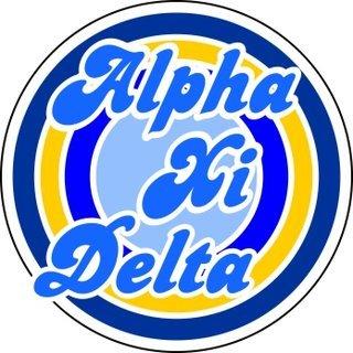 Alpha Xi Delta Retro Round Decals