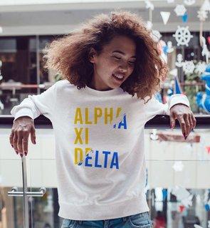Alpha Xi Delta Ripped Favorite Crewneck