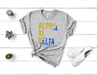Alpha Xi Delta Ripped Favorite T-Shirt