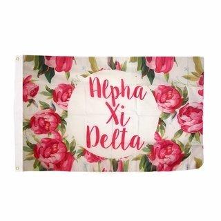 Alpha Xi Delta Rose Flag