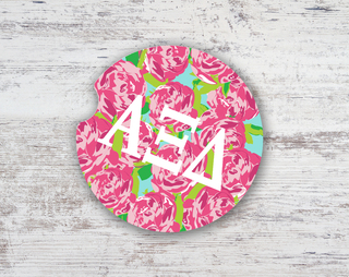 Alpha Xi Delta Roses Sandstone Car Cup Holder Coaster