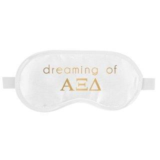 Alpha Xi Delta Satin Sleep Masks