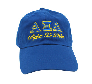 Alpha Xi Delta Script Cap