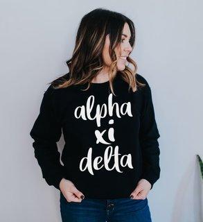 Alpha Xi Delta Script Crew Sweatshirt
