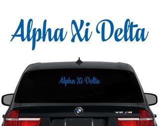 Alpha Xi Delta Script Decal