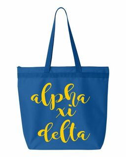 Alpha Xi Delta Script Tote bag
