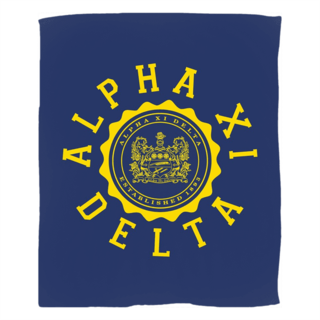 Alpha Xi Delta Seal Fleece Blanket