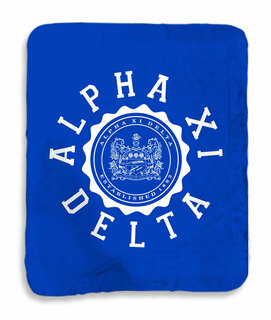 Alpha Xi Delta Seal Sherpa Lap Blanket