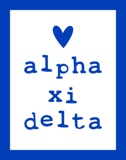 Alpha Xi Delta Simple Heart Sticker