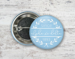 Alpha Xi Delta Since Founded Button