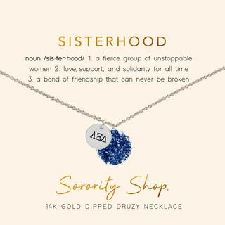 Alpha Xi Delta Sisterhood Druzy Necklace