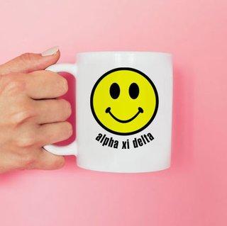 Alpha Xi Delta Smiley Face Coffee Mug - Personalized!