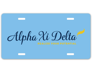 Alpha Xi Delta Sorority Logo License Cover