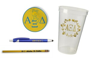 Alpha Xi Delta Sorority Mascot Set $8.99