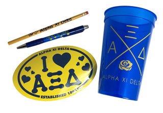 Alpha Xi Delta Sorority Love Set $8.95