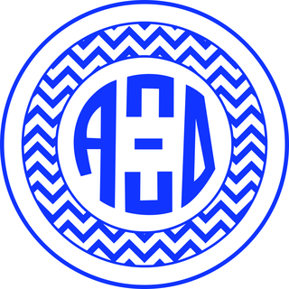 Alpha Xi Delta Sorority Monogram Bumper Sticker