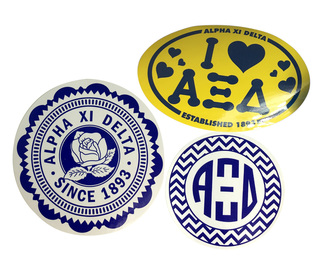 Alpha Xi Delta Sorority Sticker Collection $5.95