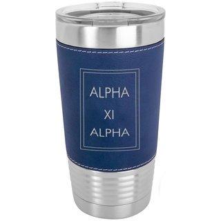 Alpha Xi Delta Sorority Leatherette Polar Camel Tumbler
