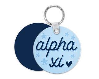 Alpha Xi Delta Star Key Chain
