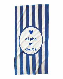 Alpha Xi Delta Striped Beach Towel