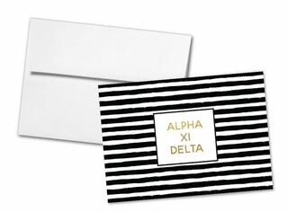 Alpha Xi Delta Striped Notecards(6)