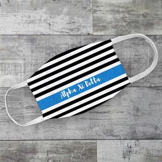 Alpha Xi Delta Stripes Face Mask