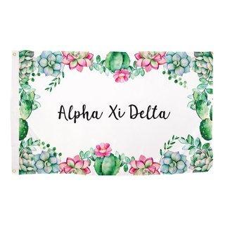 Alpha Xi Delta Succulent Flag
