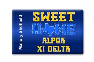 Alpha Xi Delta Sweet Home Ceramic Magnet