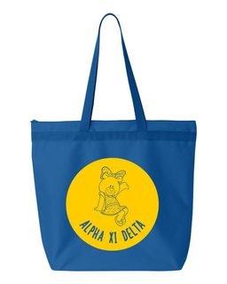 Alpha Xi Delta Symbol Circle Mascot Tote Bag