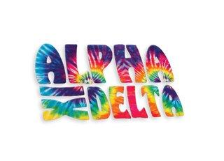 Alpha Xi Delta Tie-Dye Stack Sticker