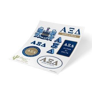 Alpha Xi Delta Traditional Sticker Sheet