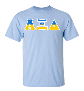 Alpha Xi Delta Two Tone Greek Lettered T-Shirt