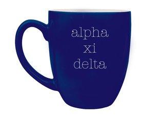 Alpha Xi Delta Type Engraved Bistro Mug