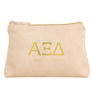 Alpha Xi Delta Vegan Leather Cosmetic Bags