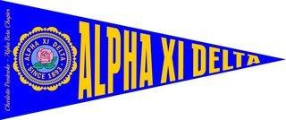 Alpha Xi Delta Wall Pennants