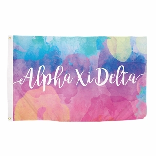 Alpha Xi Delta Watercolor Flag