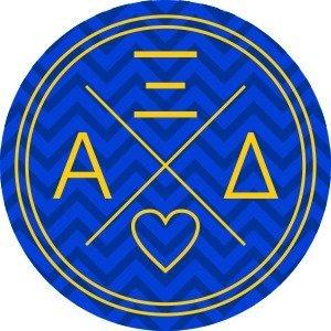 Alpha Xi Delta Well Balanced Round Decals