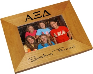 Alpha Xi Delta Wood Picture Frame