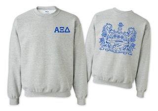 Alpha Xi Delta World Famous Crest Crewneck Sweatshirt- $25!